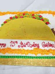 Unique 54 King Taco Birthday Cake
