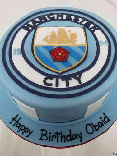 Sports 10 Manchester City Football Birthday Cake