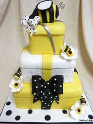Neutral 44 Baby to Bee Baby Shower Cake