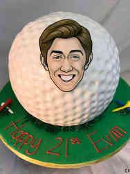 Sports 53 Giant Golf Ball Birthday Cake