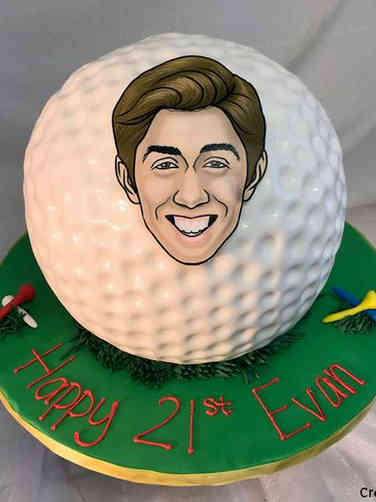 Sports 53 Giant Golf Ball Birthday Cake