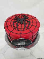 Superheroes 28 Spiderman Web Birthday Cake