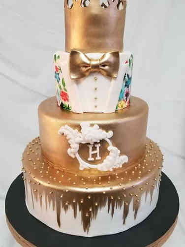 Fashion 17 King's Floral Tuxedo Birthday Cake