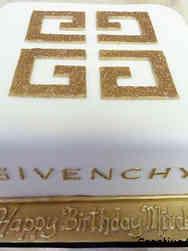 Fashion 55 Givenchy Logo Birthday Cake