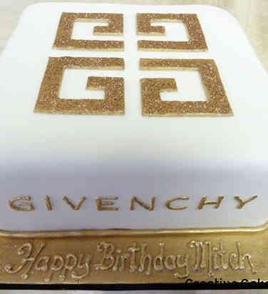 Fashion 55 Givenchy Logo Birthday Cake
