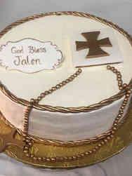 Communion 13 Elegant First Communion Cake