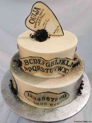 Unique 08 Ouija Board Wedding Cake