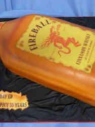 Food 20 Fireball Whiskey Bottle Birthday Cake