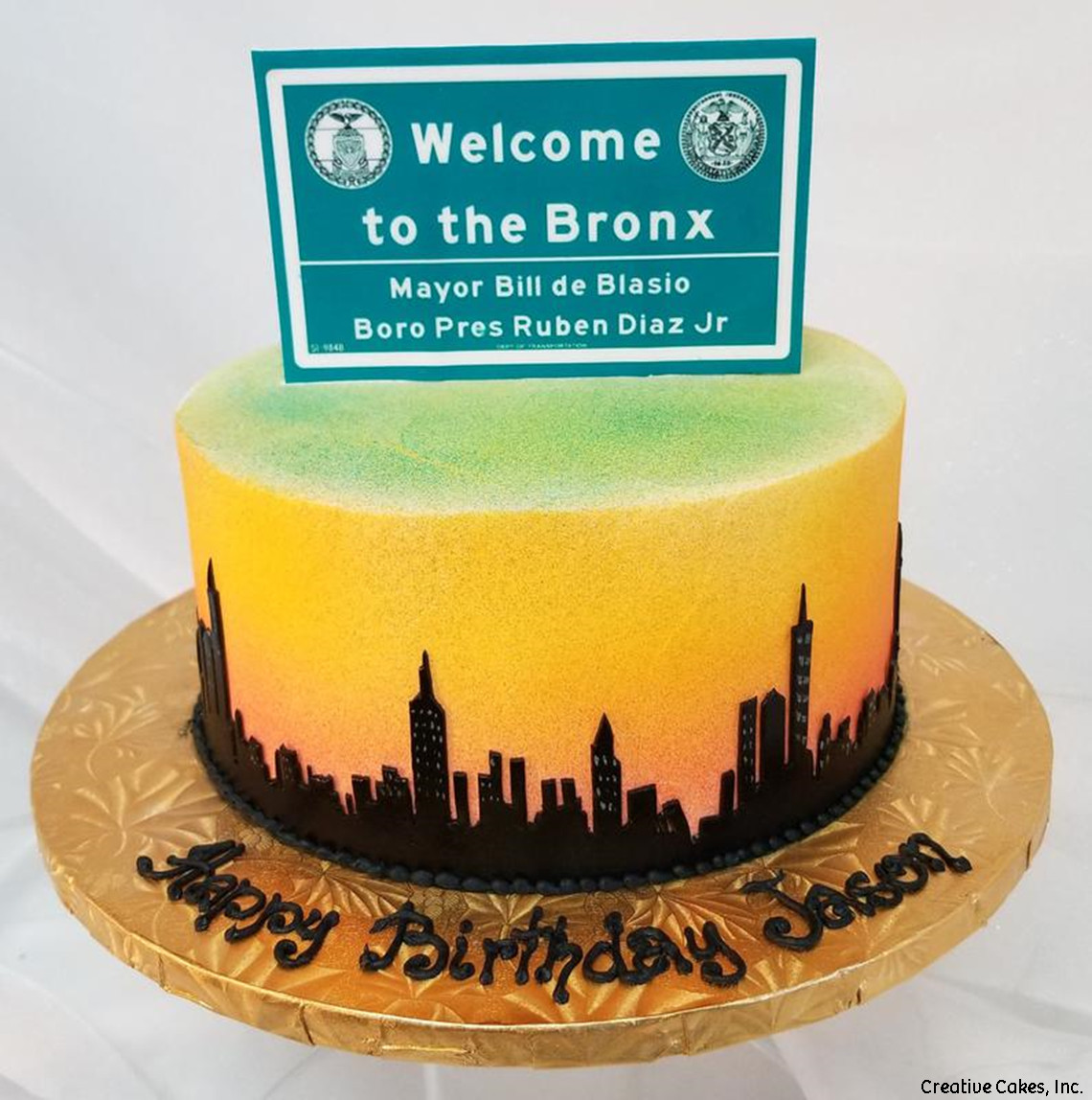 Unique 19 The Bronx New York City Skyline Birthday Cake