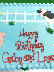 Animals 26 Farmyard Animals Birthday Cake