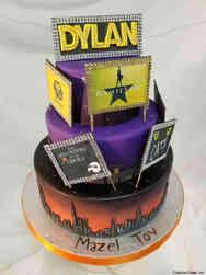 Mitzvah 16 Broadway Themed Bar Mitzvah Cake