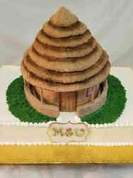Other 22 3D Hut Wedding Celebration Cake