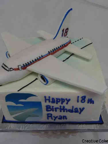 Hobbies 43 Airplane Birthday Cake