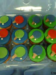 Adult 20 Ping Pong Birthday Cupcakes