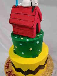 Neutral 29 Snoopy First Birthday Cake