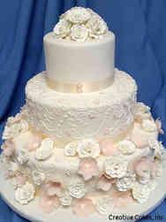 Floral 07 Delicate Pink Wedding Cake