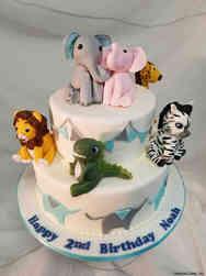 Animals 39 Stuffed Animals Birthday Cake