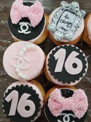 Kids 09 Chanel 16th Birthday Cupcakes