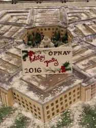 Military 21 Pentagon Replica Military Celebration Cake