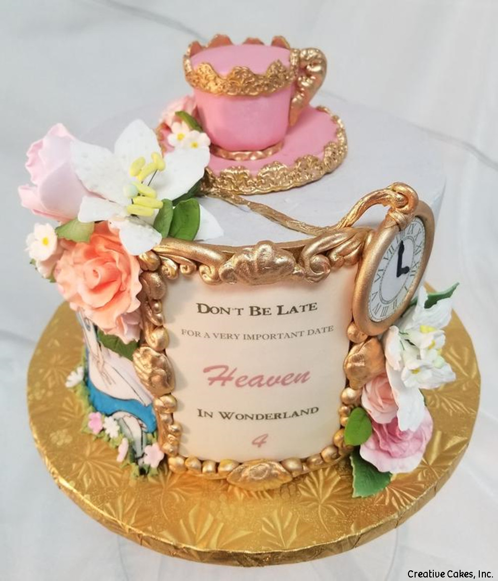 Princesses 06 Alice In Wonderland Tea Party Birthday Cake
