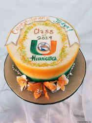 College 37 Orange and Green University of Miami Graduation Cake