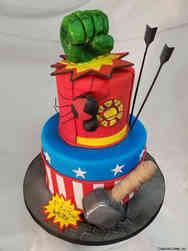 Superheroes 26 Marvel Birthday Cake