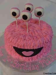 Neutral 24 Friendly Monster First Birthday Cake