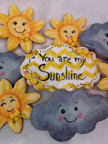 Cookies 13 You Are My Sunshine Baby Shower Cookies