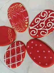 Cookies 08 Red Easter Egg Cookies