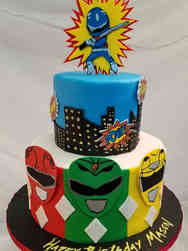 Superheroes 12 Power Rangers Birthday Cake