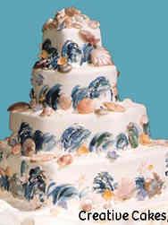 Mitzvah 14 Beach Themed Bat Mitzvah Cake