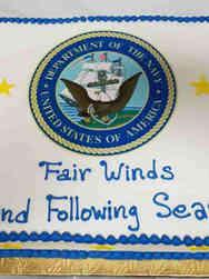 Military 07 Navy Emblem Military Retirement Cake