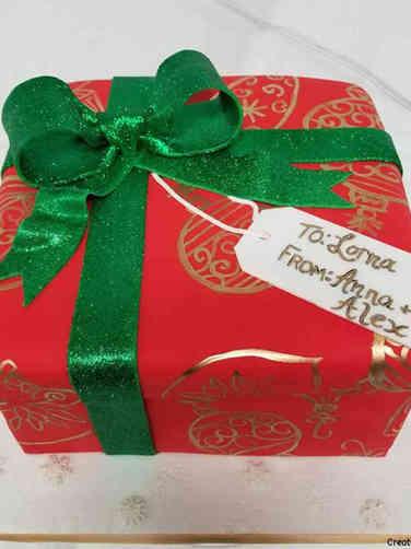 Winter 04 Elegant Gift Holiday Celebration Cake