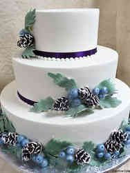 Colorful 16 Winter Greenery Wedding Cake