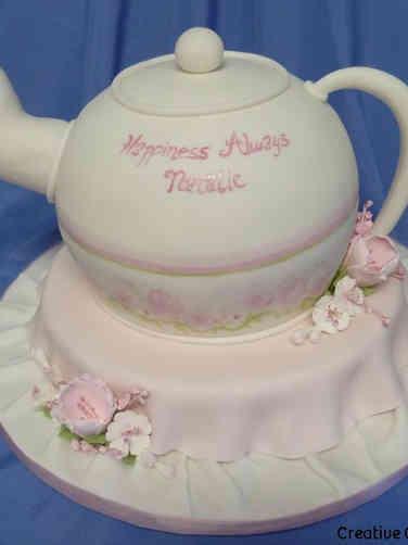 Unique 14 Afternoon Tea Bridal Shower Cake