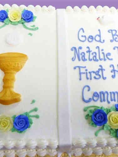 Communion 11 Open Book First Communion Cake