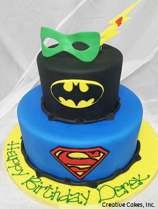 Superheroes 05 DC Comic Book Heroes Birthday Cake