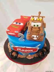 Movies 35 Cars Second Birthday Cake
