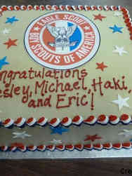 High School 21 Eagle Scouts High School Graduation Cake