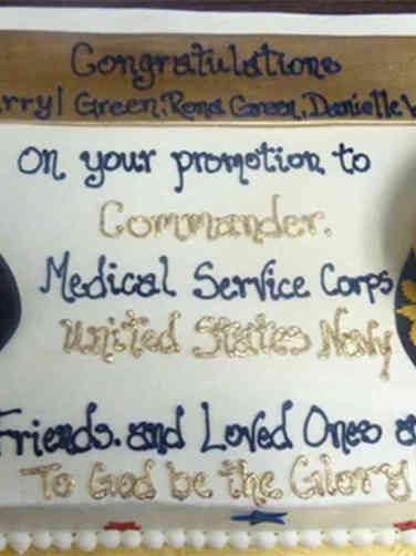 Military 20 Navy Covers Military Promotion Cake
