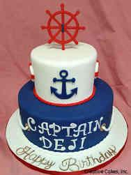 Boys 03 Ship Captain First Birthday Cake