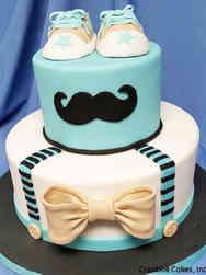 Boys 04 Little Man Baby Shower Cake