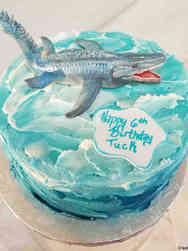 Animals 42 Megalodon Birthday Cake