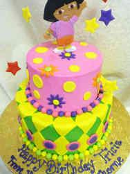 TV 18 Dora the Explorer Birthday Cake
