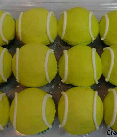 Other 25 Tennis Ball Celebration Cupcakes