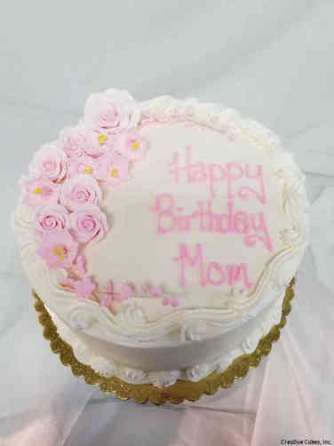 Floral 37 Delicate Pink Flowers Birthday Cake