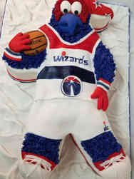 Corporate 07 Washington Wizards Mascot G-Wiz Celebration Cake
