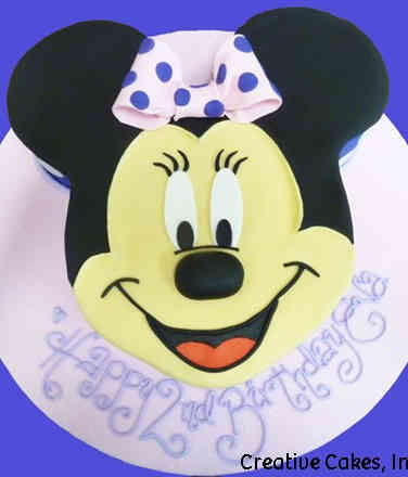 TV 24 Minnie Mouse Face Birthday Cake