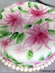 Floral 11 Hand Painted Lillies Bridal Shower Cake