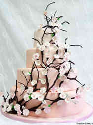 Floral 20 Cherry Blossom Branches Wedding Cake